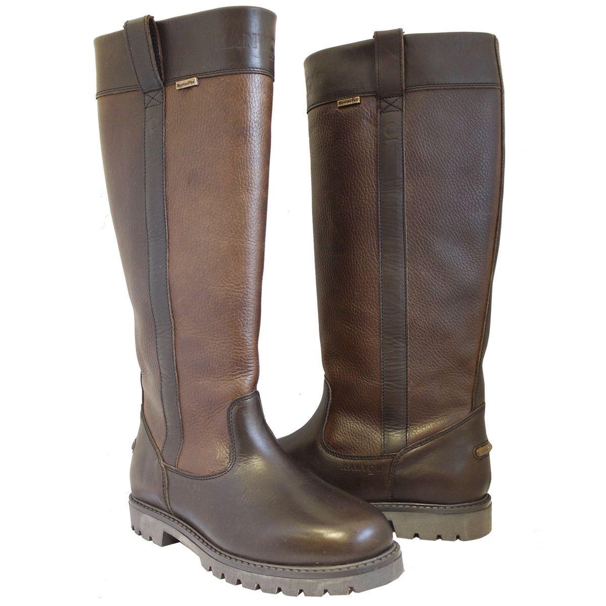 Kanyon Aspen Damas Cómodo Cuero Impermeable botas Largas país Equine