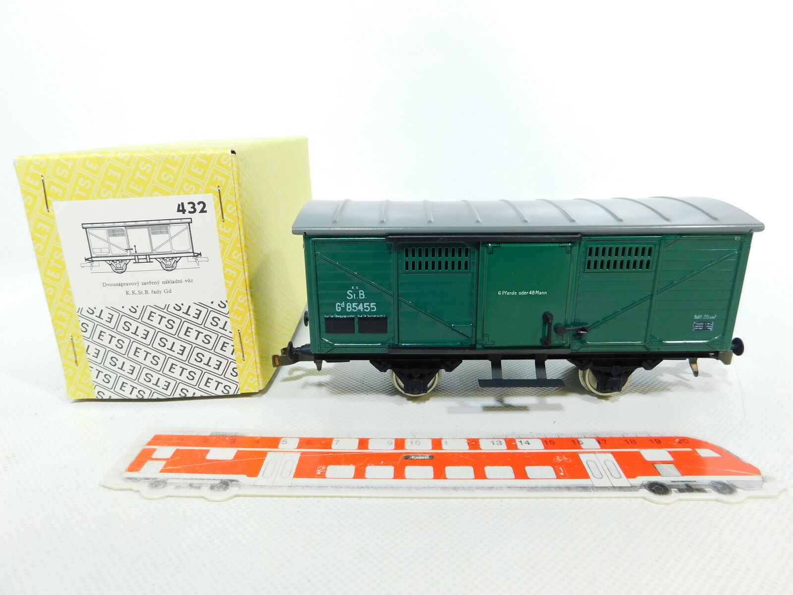 BV732-1 Ets Gauge 0   Dc 432 Covered Tin Goods Wagons 85455 Kkstb , Boxed