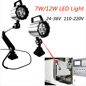 Milling Machine 7W 12W LED Light CNC Bench Lathe Knee Mill Waterproof Lamp