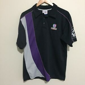 Fremantle-Dockers-Vintage-Official-AFL-Polyester-Polo-Shirt-Black-Mens-Small