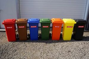 SULO-120L-Muelltonne-NEU-grau-gelb-blau-gruen-braun-orange-rot-Lagerware