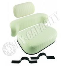 Embossed Oliver Tractor White Seat 1550 1555 1650 1655 1750 1755 1850 1855 1950