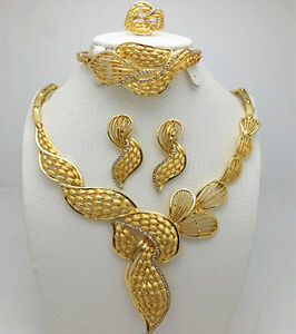 New Design Beautiful Gold Plated Party Bridal Wedding Jewellery