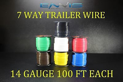 12 GAUGE WIRE ENNIS ELECTRONICS 5 WAY TRAILER LIGHT 100 FT EACH PRIMARY CABLE