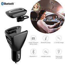 Built-In Bluetooth Headset Car Headphones Microphone Car Dual USB Car Charger