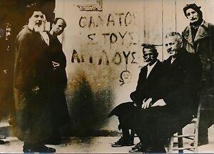 CHYPRE-1955-Resistance-Grecque-034-Mort-aux-Anglais-034-Grece-Photo-de-Presse