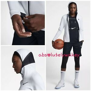 Nike pure Hoodie Basketball Full zip Women's Platinum Flex Showtime blac black Therma White z0xqrFz