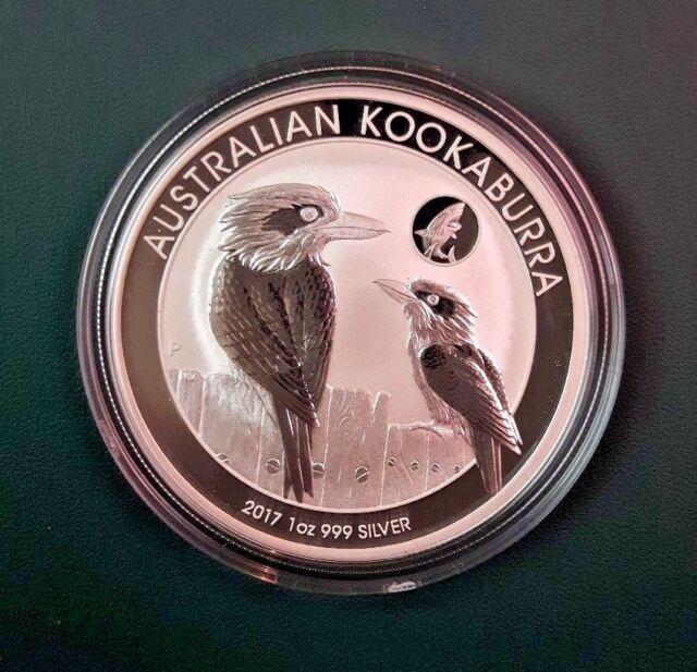 2017 Australia Kookaburra 1 oz 999 Silver Coin - Shark Privy in plastic Air-tite