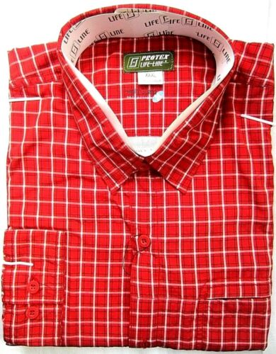 Life line tobago anti mosquito camisa Safari antiinsekt outdoorhemd red Check s 37