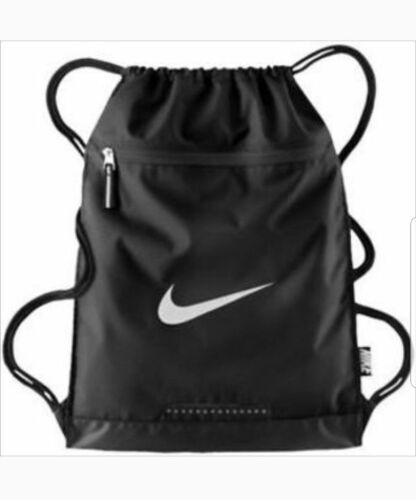Nike Team Training Draw String Bag Gym Bag Gym-sack Black or Blue