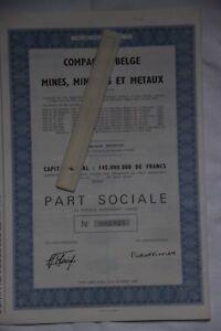 25-actions-Compagnie-belge-des-mines-minerais-et-metaux-Bruxelles