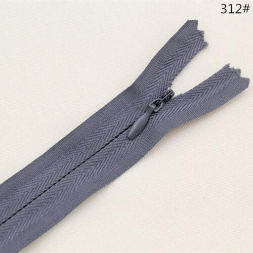 10pcs Invisible Zip Closed End Zippers Concealed Nylon Zipper Multicolor 20//60cm
