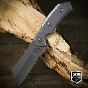 """TACTICAL Combat CLEAVER Survival GRAY Hunting Fixed Blade FULL TANG Knife 8.75"""""""