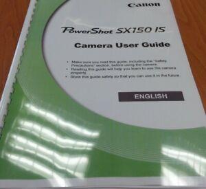 Canon PowerShot SX150 viene stampato completo manuale di istruzioni guida utente pagine 199