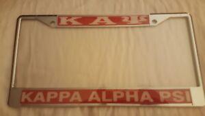 Kappa Alpha Psi Fraternity Metal License Plate Frame Red Frame Ebay
