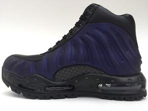 Nike Air Max Foamdome Foamposite black/purple eggplant mens size 10.5 boots