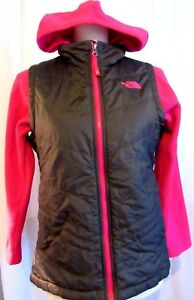 THE-NORTH-FACE-GIRLS-BLACK-QUILTED-HOODIE-JACKET-SIZE-14-16