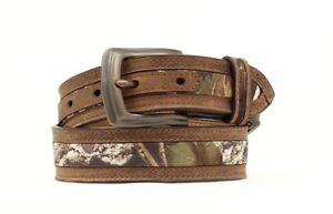Camo-amp-Leather-MOSSY-OAK-Youth-WESTERN-BELT-Cowboy-Kid-Hunter-NOCONA-N44192
