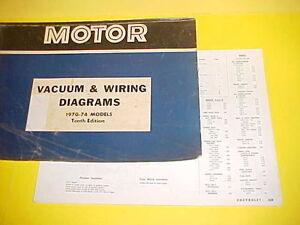 1970 1971 1972 1973 1974 Chevrolet Impala Caprice Belair Vacuum Wiring Diagrams Ebay