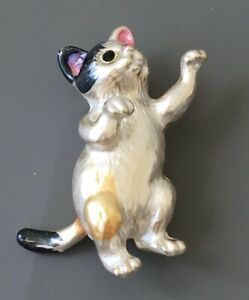 Unique-cat-brooch-in-enamel-on-gold-tone-metal