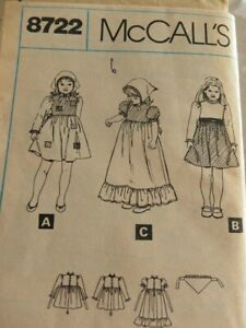 1970-s-McCalls-8722-girls-dress-and-scarf-sewing-patterns-size-6-uncut
