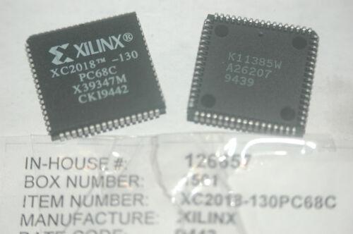 XILINX XC2018-130PC68C 68-Pin Plastic PLCC Programmable Gate New Lot Qty-2