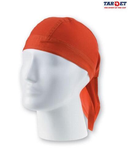 ATLANTIS cappello BANDANA LONG foulard COTONE moto UNISEX moda ARANCIONE hats