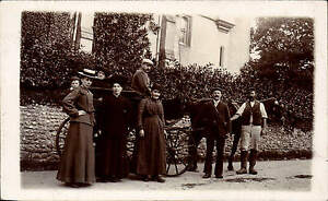 Dorchester-posted-Horse-amp-Cart-Ladies-amp-Workmen-Card-sent-by-Sergt-Howes