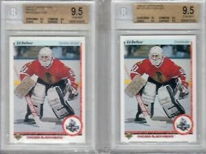ED-BELFOUR-UPPER-DECK-ROOKIE-FRENCH-AND-AMER-BOTH-BGS-9-5
