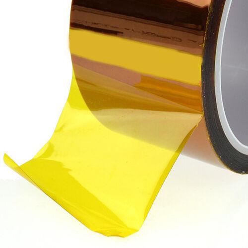 Hitzebeständiges Klebeband Kapton Tape 5//10//20//30//50 mm*30m Drucker PAL· C9E4