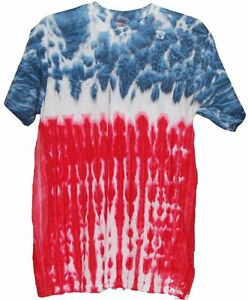 Red white blue flag design tye dye t shirt closeout ebay for How to dye a shirt red