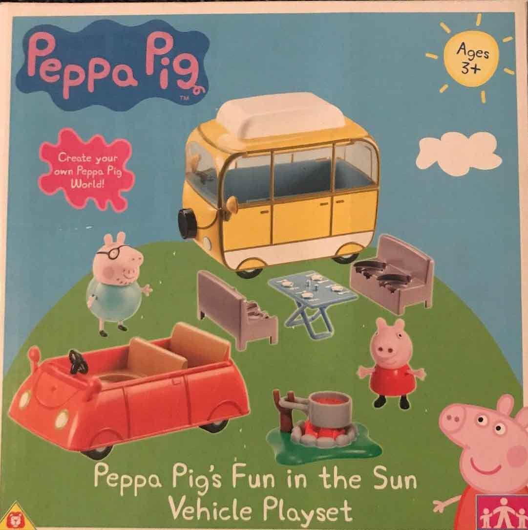 Peppa Pig Fun in the Sun Vehicle Playset with Camper Van & Car