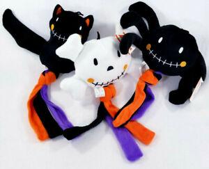 Tassel-Tug-Skull-Spider-Bat-Squeaker-Soft-Plush-Dog-Toys-Halloween-Puppy-B62