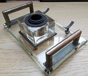 Dashing Glass & Metal W.l Periods & Styles Mason The Numan Desk Accessory-arts & Crafts-free Usa Ship Latest Fashion