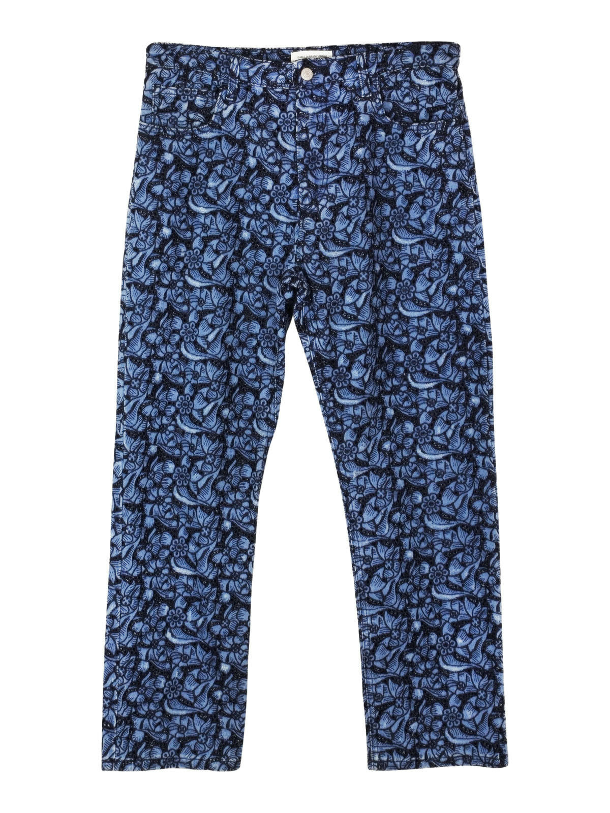 NEW Isabel Marant Etoile embroidered floral skinny fit jeans in bluee
