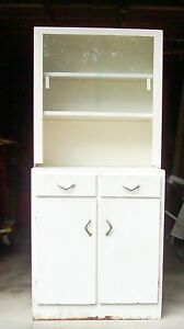 vintage metal kitchen cabinets vtg white metal cabinet glass industrial kitchen 27995