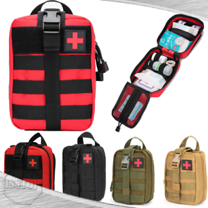 Tactical First Aid Kit Medicical Pouch Molle Rip Away EMT IFAK Medic Bag Outdoor