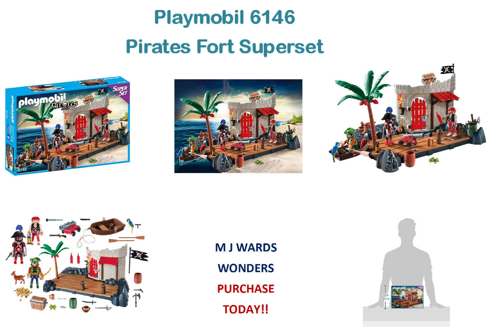 Playmobil 6146 - Pirates Fort Superset – Super Set - Dolls And Playsets