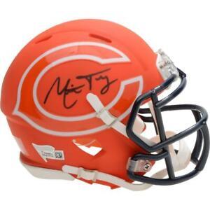 MITCHELL-TRUBISKY-Autographed-Chicago-Bears-AMP-Mini-Speed-Helmet-FANATICS