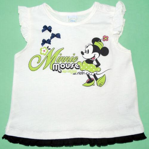 NEU! Disney Minnie Mouse Top T-Shirt Shirt Baumwolle  80 86 92
