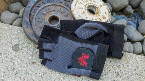 Brand New Valeo Large AV Gel Fingerless Leather Palm Utility Safety Work Gloves