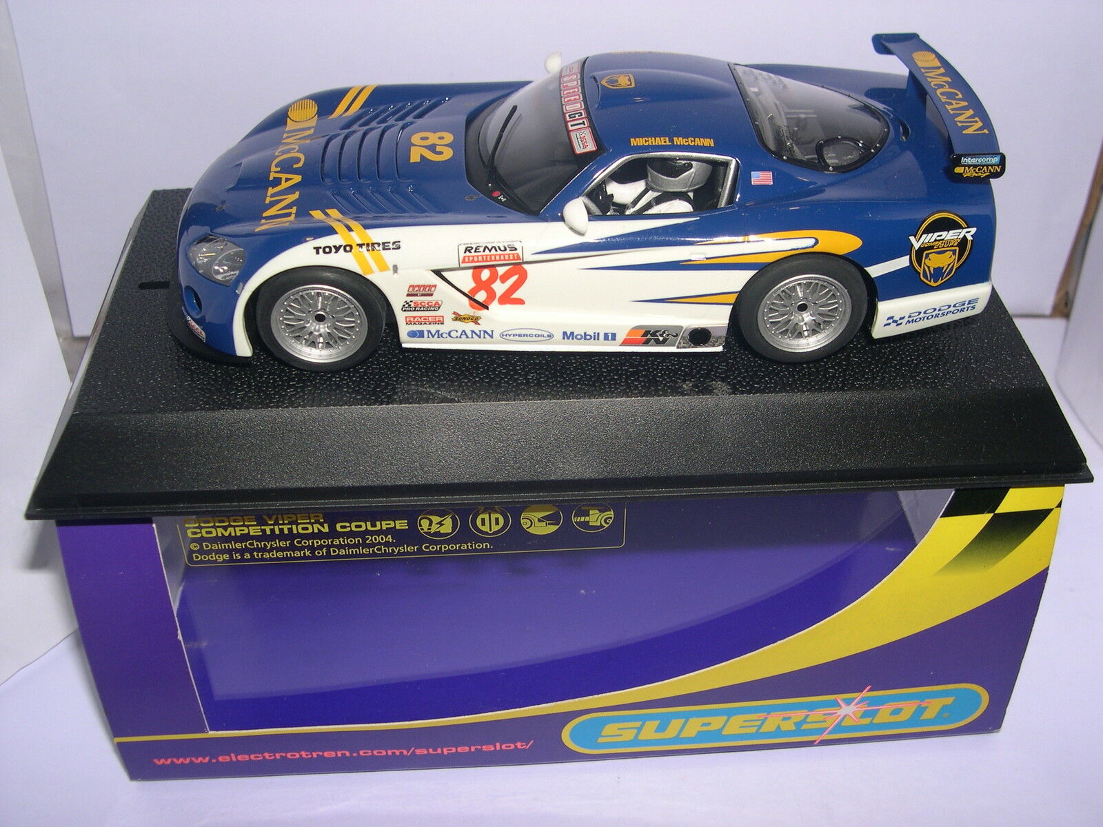 Superslot H2523 Dodge Viper Competition  82 Mccann  M.Mccann Scalextric UK MB  presa