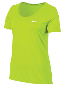 6310bfa1 Nike Womens Dri-Fit Legend Scoop Neck Running Shirt Volt/Yellow New ...