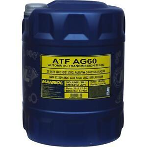 20-Liter-Original-MANNOL-Automatikgetriebeoel-ATF-AG60-Getriebe-Oll-Gear-Oil