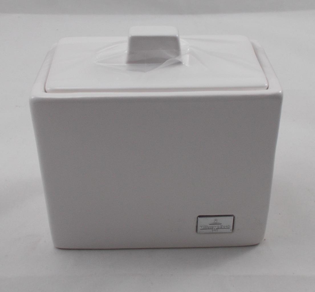Villeroy & Et Boch Manhatten V2009 bocal avec couvercle Alpine Weiss blanc new boxed