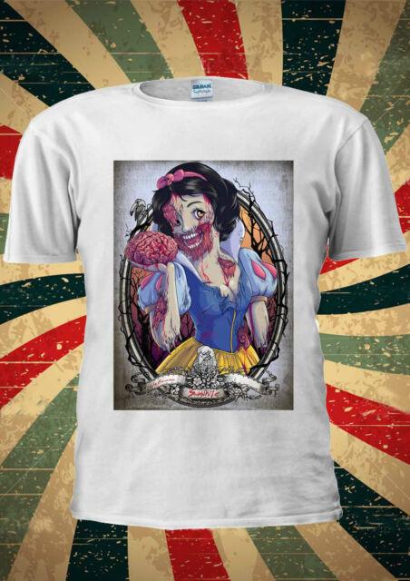 Disney Snow White Zombie The Seven Dwarfs T Shirt Vest Top Men Women Unisex 118