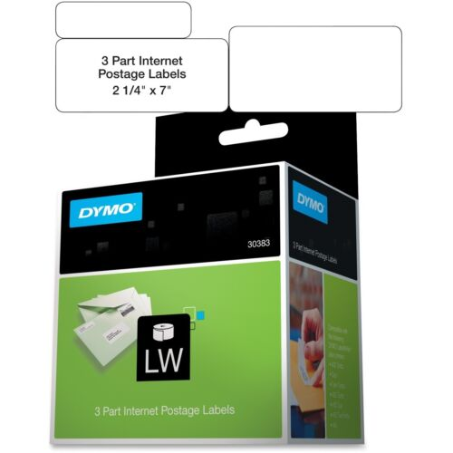 """Dymo Shipping//PC Postage Label 3 Part 7/""""x2-1//4/"""" 150 Labels//RL WE 30383"""