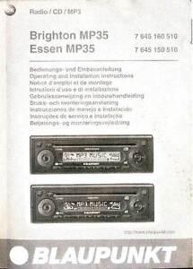 Bedienungsanleitung-Operating-Instructions-BLAUPUNKT-Brighton-Essen-MP35