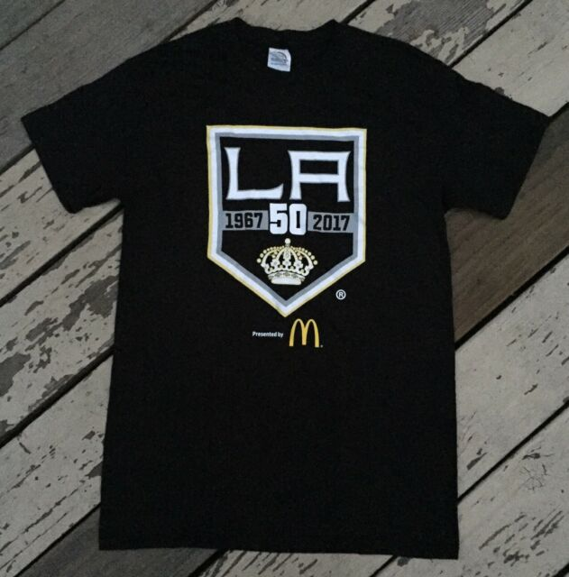 best website 82304 54e51 Reebok NHL Los Angeles Kings 1967-2017 50th Anniversary Men's T-Shirt, Size  S - Black