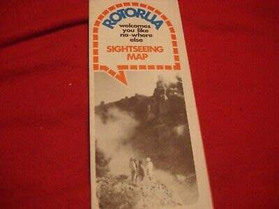 New Zealand Sightseeing Map.Rotorua Sightseeing Map And Excursions New Zealand Ebay